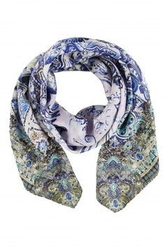 CAMILLA TEMPTRESS OF THE DEEP LARGE SQUARE SCARF 1