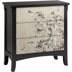Add beauty and storage to your home with this gorgeous Graham accent chest. The subtly flared legs and a wonderful scroll design infuse your home with upscale elegance, while three drawers give you room to store your possessions.