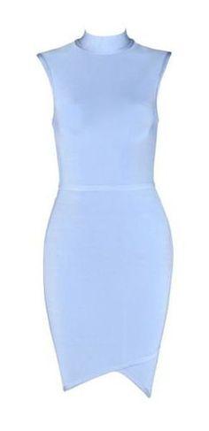 Lily Blue Bandage Dress
