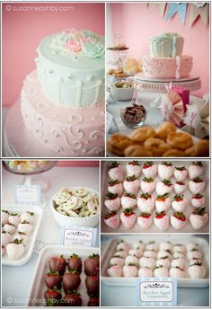 Delicious sweets and beautiful tea party decorations to go with fruit and herbal kids' teas.