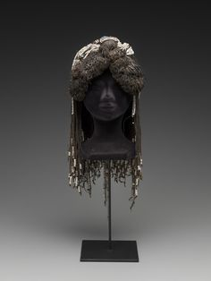 Woman's headdress, early-mid 1900's, Mbukushu people, Namibia, Africa.