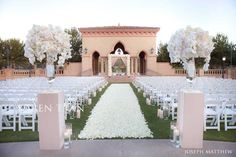 Blush colored wedding ceremony at the Grand Del Mar