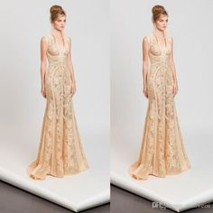 Tony Ward 2017 Mermaid Dresses Evening Wear Plunging Neckline Lace Applique Sexy Trumpet Evening Gowns Formal Long Prom Dress Turkish Evening Dresses Turquoise Evening Dresses From Manweisi, $126.61| Dhgate.Com