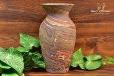 Niloak Pottery Mission Swirl Flared Rim Vase Lamp Base Shape G inch - The Kings Fortune Vase Shapes, Light Reflection, Swirl Design, Lamp Bases, Earth Tones, Pottery Art, Glass Art, Arts And Crafts, Ceramics