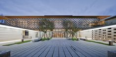 Image 1 of 28 from gallery of Tianjin Luneng Taishan College / Lacime Architectural Design. Photograph by 是然建筑摄影