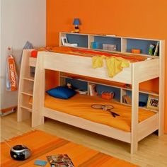 low bunk bed. Worry mom here would need something around top