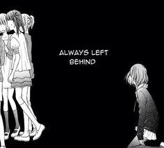 sad, alone, and manga image