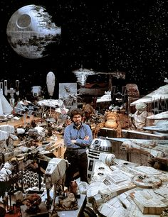 George Lucas and his toys.