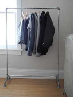 Plumbing supplies clothing rack - oh yes I want these - what about for your craft fair!