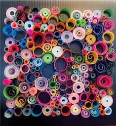 Colorful Paper Quilling Wall Art Wall by MelsCreativeDesigns
