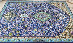 #Handmade_decorative_Persian_blue_tiles_