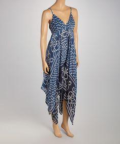 Look at this #zulilyfind! Navy Dot Handkerchief Dress by Metro 22 #zulilyfinds