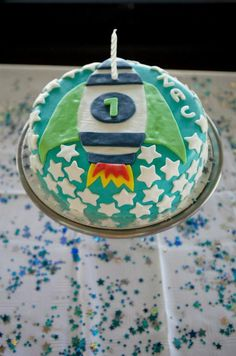 Like the cake; not so much the rest of the party--too Toy Story