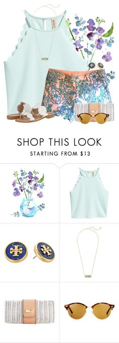 """QOTD: What is your favorite flower?"" by flroasburn on Polyvore featuring Tory Burch, Kendra Scott, Ray-Ban and Jack Rogers"