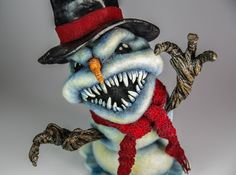 Evil Snowman by Felted Chicken --- because i like nightmares.
