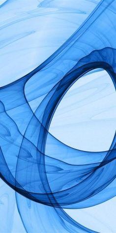 Blue smokey swirl
