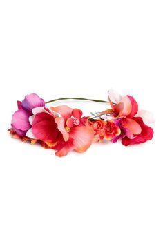 Haarband met bloemen - Roze/koraal - DAMES | H&M NL 1