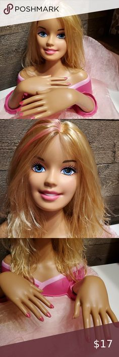 Barbie Doll COLOR /& STYLE DELUXE Colorized Styling Head Curly Hair 25 Pieces NEW