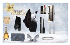 """""""Holiday Sparkle With The RealReal: Contest Entry"""" by devilishkitten ❤ liked on Polyvore featuring Chanel, Manolo Blahnik, Harrods, Tiffany & Co., Dolce&Gabbana, Bobbi Brown Cosmetics and Christian Dior"""