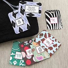 Women's Personalized Luggage Tag Set