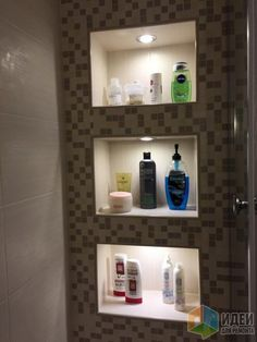 Фото ниша в ванной отделка