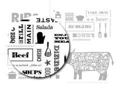RIBS Restaurant by Susanna Castelli, via Behance