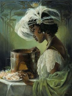 Princess Tiana by Heather Theurer at An Art Tribute to the Disney Films of Ron Clements and John Musker. Princess Tiana by Heather Theurer at An Art Tribute to the Disney Films of Ron Clements and John Musker. Disney Characters, Animated Movies, The Princess And The Frog, Tiana, Female Art, Disney Fine Art, Disney Art, Cartoon, Disney Animation