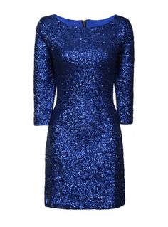Blue Sequin Dress for the Gala!