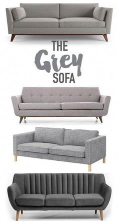 Reasons why you should buy a classic grey sofa for your living space. Grey is a neutral color that works well with many passing design trends and styles. Living Room Grey, Living Room Sofa, Home Living Room, Living Room Designs, Living Room Furniture, Sofa Furniture, Furniture Design, Furniture Shopping, Smart Furniture