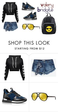 """""""style)"""" by bridgite ❤ liked on Polyvore featuring Zara, Ray-Ban and Olivia Miller"""