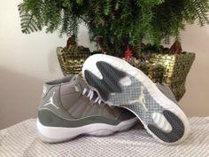 Air Jordan Retro 11 AAA Men's shoes Grey/White