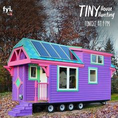 With such a cute size and instant pick-me-up colours, this tiny house will never be tiny on cheerfulness. Watch Tiny House Hunting at 9 PM.  #house #dreamhouse #househunting #myhouse #housedesign #Home #homedesign #instahome #myhome #tinyhouse #tinyhousemovement #TinyHouseNation #tinyhouses #tinyhouseonwheels #tinyhouseliving #tinyhousebuild #tinyhouselife #tinyhouseconstruction #tinyhouseproject #tinyhousedesign #tinyhousefamilies