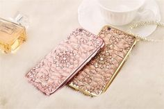 Luxury Gold Bling Glitter Plating Diamond Soft TPU Phone Case For iPhone 6 inch 6 Plus inch Back Cover Iphone 5s, Iphone 7 Plus, Iphone Cases, Apple Iphone, Glitz And Glam, 6s Plus, Bling, Luxury, Glitter