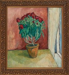 BJARNE ERIKSEN KØBENHAVN 1882 - OSLO 1970  Blomsterstilleben, 1915 Olje på lerret, 63x58 cm Signert og datert nede til høyre:Bjarne Eriksen 1915 Painting, Art, Art Background, Painting Art, Kunst, Paintings, Performing Arts, Painted Canvas, Drawings