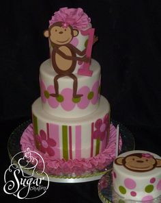 1st birthday cake-teddy bear in a box, change a few colours to make it ...
