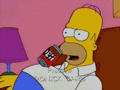 magnificent Advanced Beer Drinking by Homer Simpson. The Simpsons, Simpsons Funny, Funny Videos, Funny Memes, Funny Gifs, Famous Cartoons, Cool Cartoons, Hipsters, Kim Kardashian