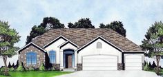 House Plan 62646 | Traditional    Plan with 1602 Sq. Ft., 3 Bedrooms, 2 Bathrooms, 3 Car Garage