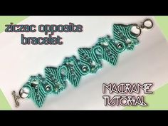 Macrame tutorial - The opposite zigzag bracelet - Basic and simple - YouTube