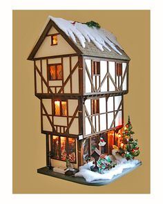 Tutor Doll House at Christmas time.