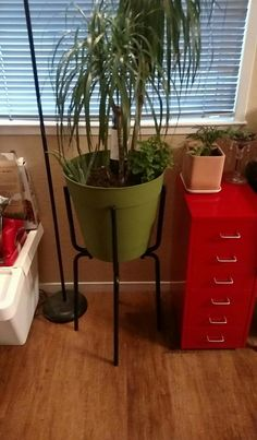 Mid century modern planter diy made of ikea marius stools