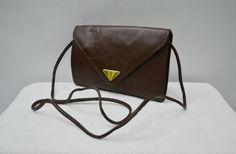 Yves Saint Laurent Bag Vintage Yves Saint Laurent Crossbody Bag Yves Saint  Laurent Vintage Dark Brown Leather Shoulder Bag YSL Bag 3291bac0c34