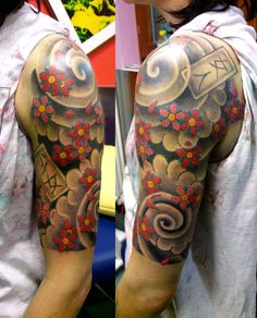 Japanese Quarter Sleeve Tattoo Design