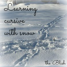 #3 most-read post of the week 2/16/18 | Learning cursive with snow