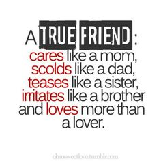 True friend is....