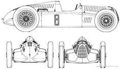 Auto Union Type D blueprint