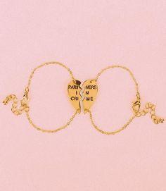 Jewels  partners in crime gold heart bestfriend rose gold bracelets best  friend bracelet urban me   Jess! 92ec08952c1f2