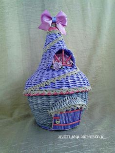 Светлана Семенова Rattan, Paper Weaving, Fairy Garden Accessories, Basket Weaving, Decorative Boxes, Gifts, Gift Boxes, Fairies, Home Decor