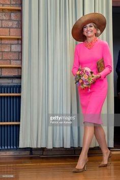 News Photo : Queen Maxima of The Netherlands visits community...