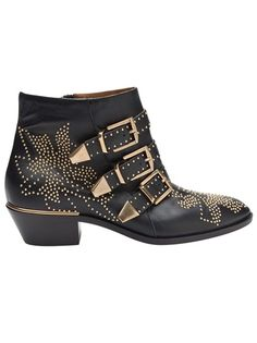 Chloe studded leather cowboy bootie #boho #festival