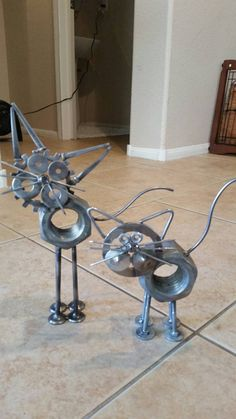 Upcycled metal kitty's